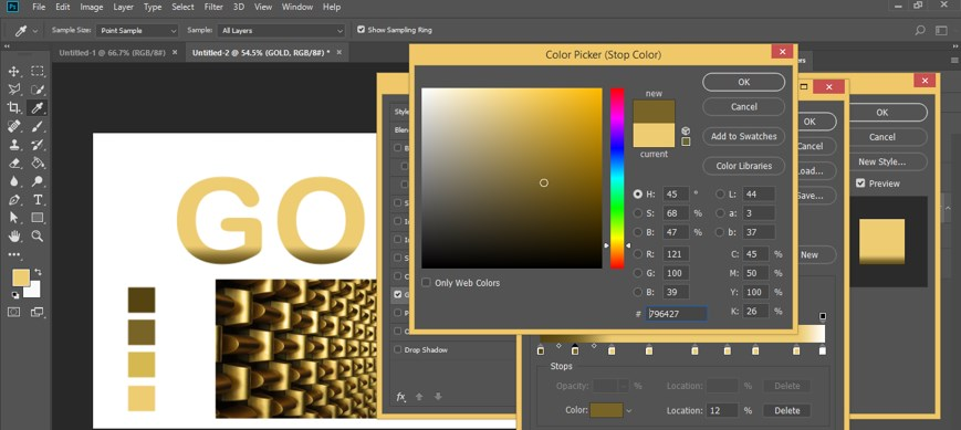 Photoshop Gold Gradient - 31