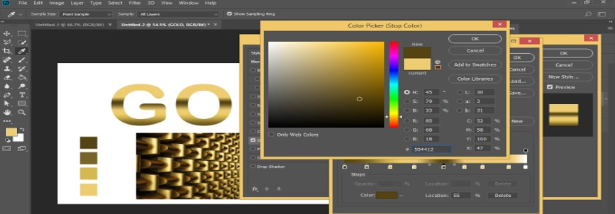 Photoshop Gold Gradient - 33