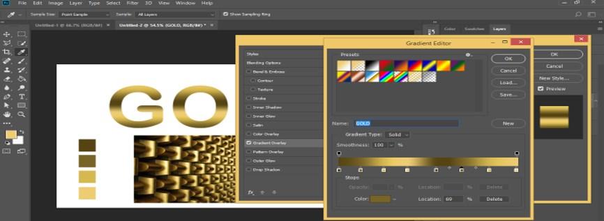 Photoshop Gold Gradient - 34
