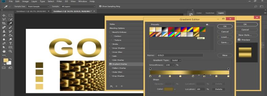 Photoshop Gold Gradient - 35