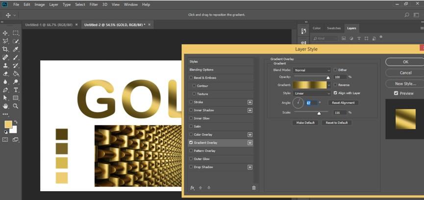 Photoshop Gold Gradient - 36