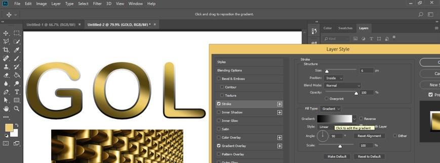 Edit gradient option