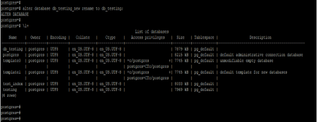 PostgreSQL ALTER DATABASE - 2