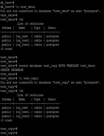 PostgreSQLClone Database Example 1