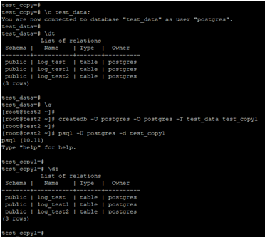 PostgreSQLClone Database Example 2