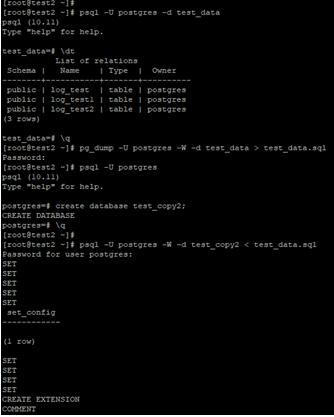 using createdb command Example 3.1