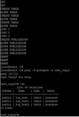 using createdb command Example 3.2