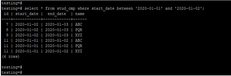 PostgreSQLCompare Date-3.1