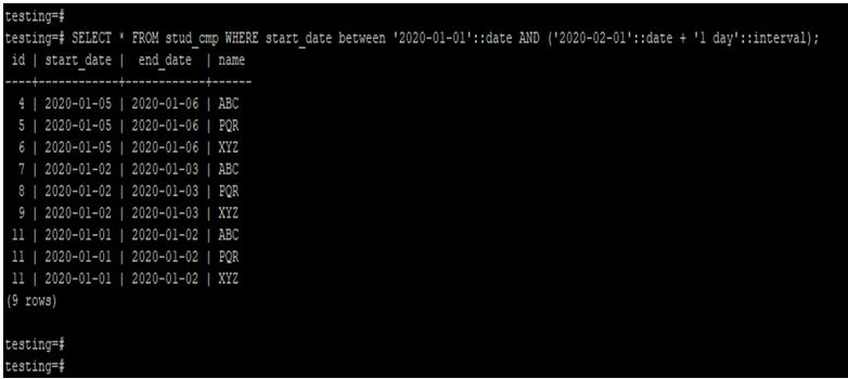 PostgreSQLCompare Date-3.2