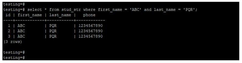 PostgreSQL Compare Strings 2