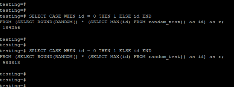 PostgreSQLORDER BYRandom Example 5