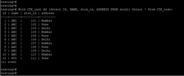 PostgreSQL WITH Clause - 4