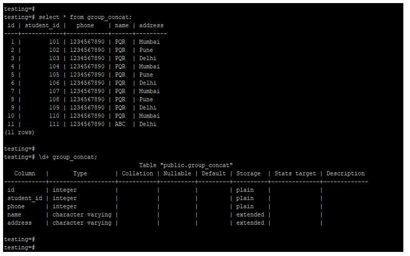 PostgreSQL group_concat 3