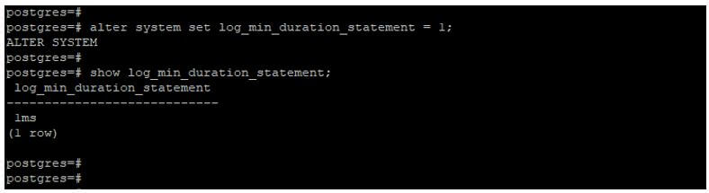 PostgreSQL log_statement 1