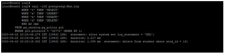 PostgreSQL log_statement 6