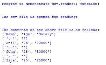 Python Import CSV Example 1
