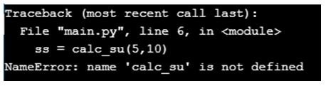 Python NameError 2