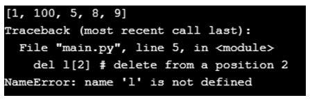 Python NameError 4