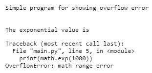 Python OverflowError1