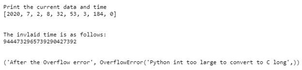 exception handling concept