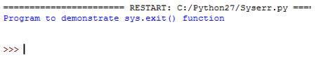 Python SystemExit3