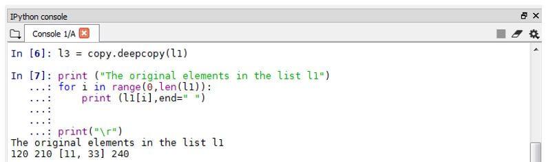 Python deepcopy 3