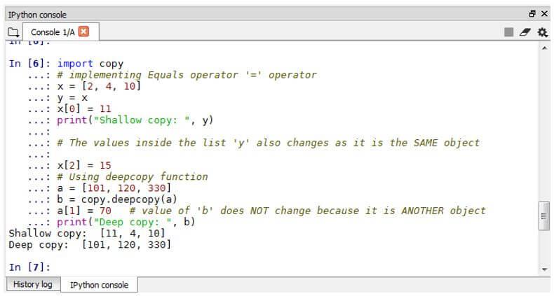 Python deepcopy 9
