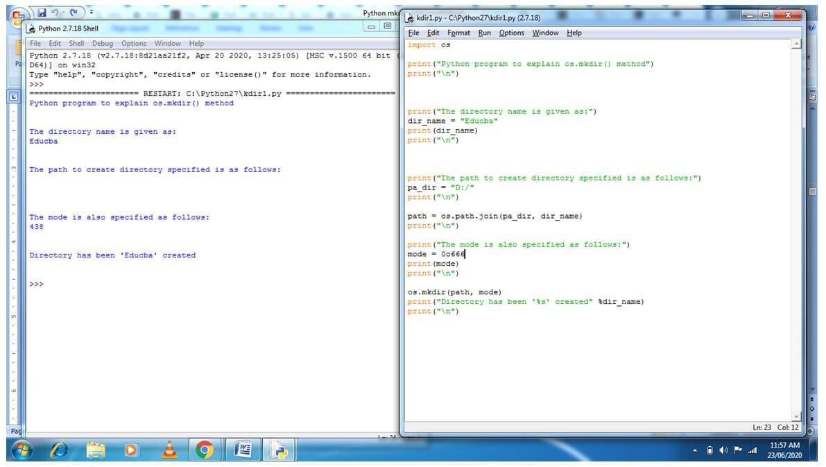 Python mkdir 2