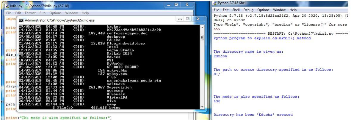 Python mkdir 6