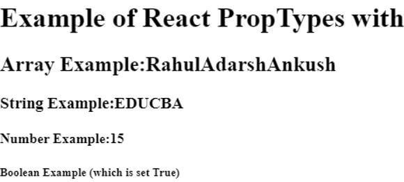 React PropTypes 2