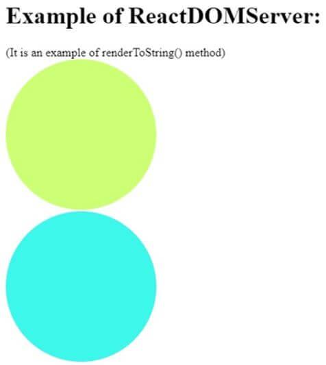 renderToString() method