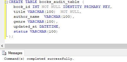 books audit table