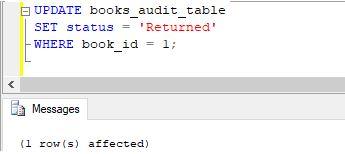 SQL AFTER UPDATE Trigger15