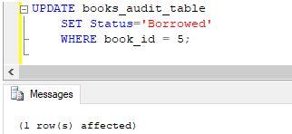 SQL AFTER UPDATE Trigger7