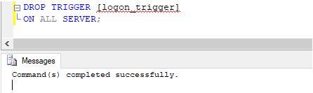 drop logon trigger