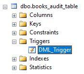 SQL DROP TRIGGER2