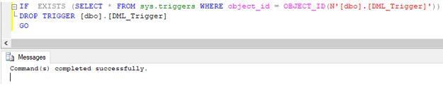 SQL DROP TRIGGER3