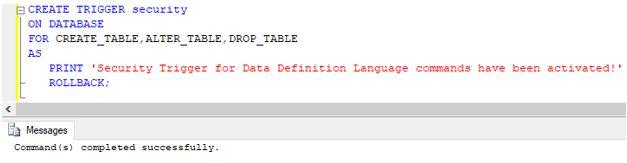 SQL DROP TRIGGER5