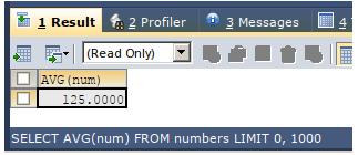 SQL avg() output 4