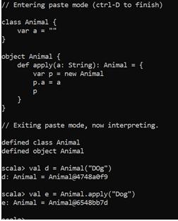 Scala Companion Object Example 1