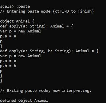 Scala Companion Object Example 2