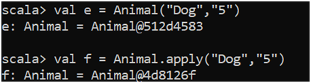 Scala Companion Object Example 3