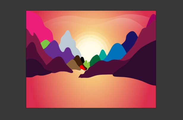 Sun in Illustrator - 21