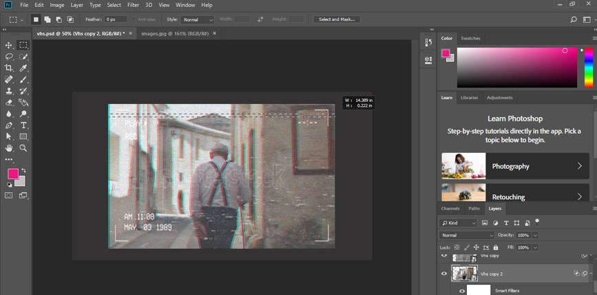 VHS Effect Photoshop - 30