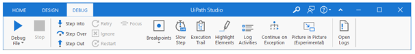 What is UiPath debug