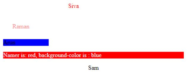 namer is red, background is blue