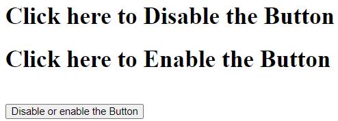 jQueryDisable Button Example 1a