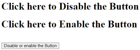 jQueryDisable Button Example 3
