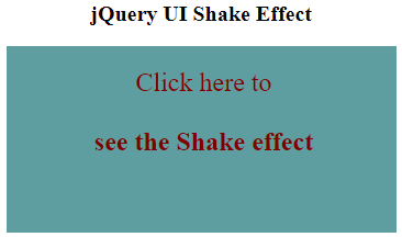 jQuery UI effect() Example 2