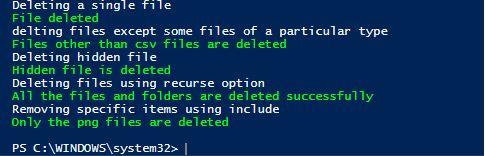 powershell delete file1